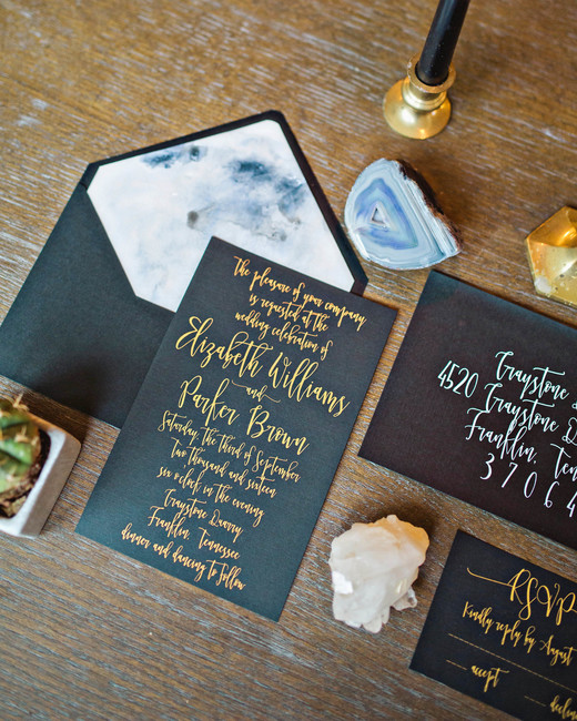 fall invites blue-gray marble suite