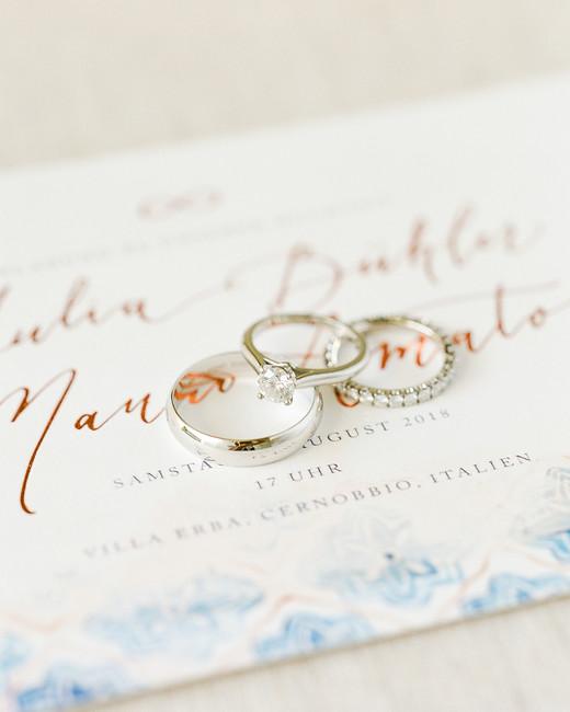 julia mauro wedding rings on invitation