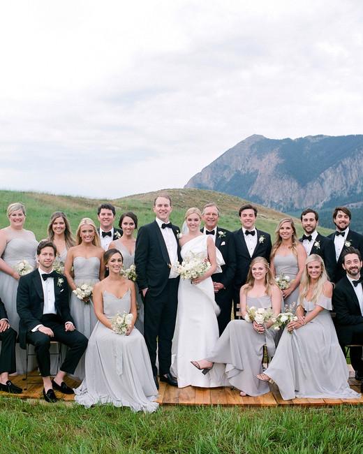 sloan scott wedding party with mountain backdrop