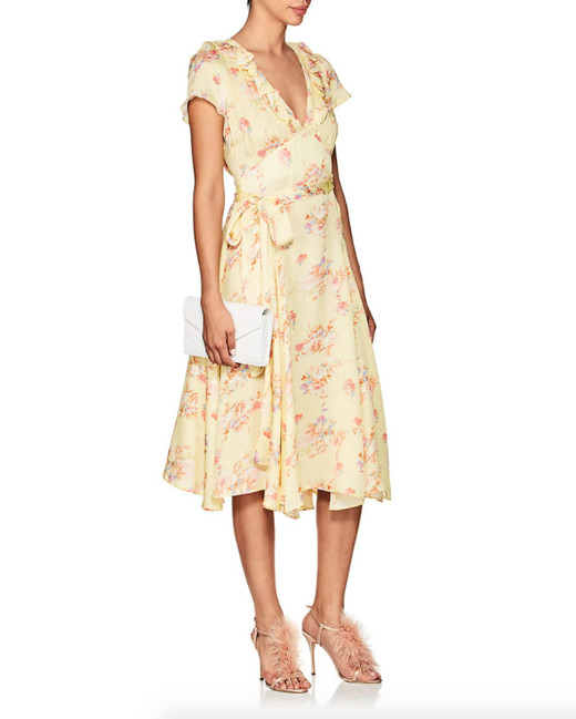 byTiMo Floral Open-Back Wrap Dress