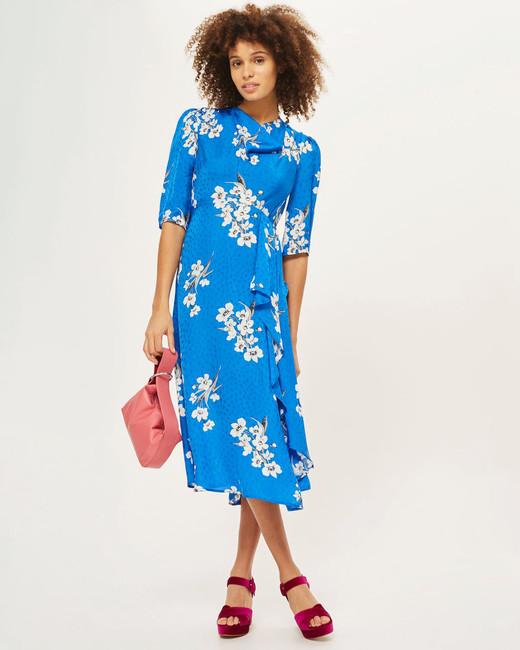 Topshop Jacquard Dress