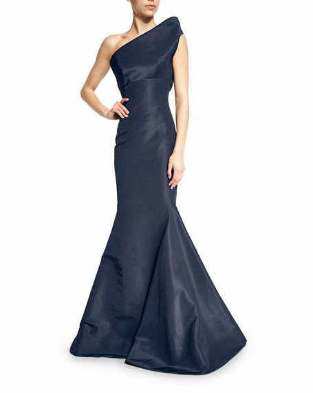 Zac Posen One-Shoulder Mermaid Gown