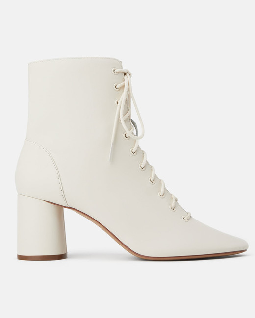 outdoor wedding shoes lace-heeled ankle boots