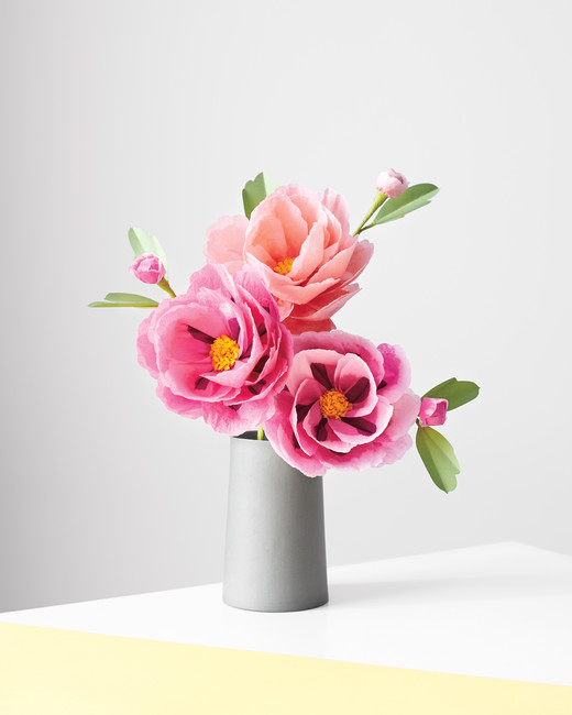 How to make paper and fabric flowers for your wedding martha peony paper flowers mightylinksfo