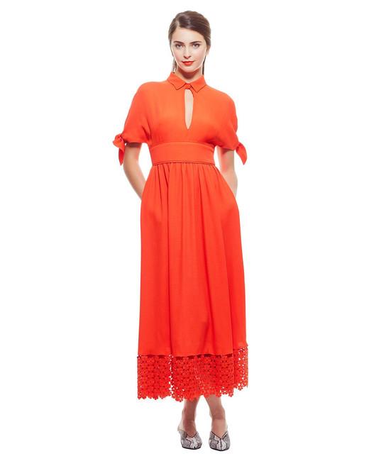 Lela Rose Textured Shirt Dress