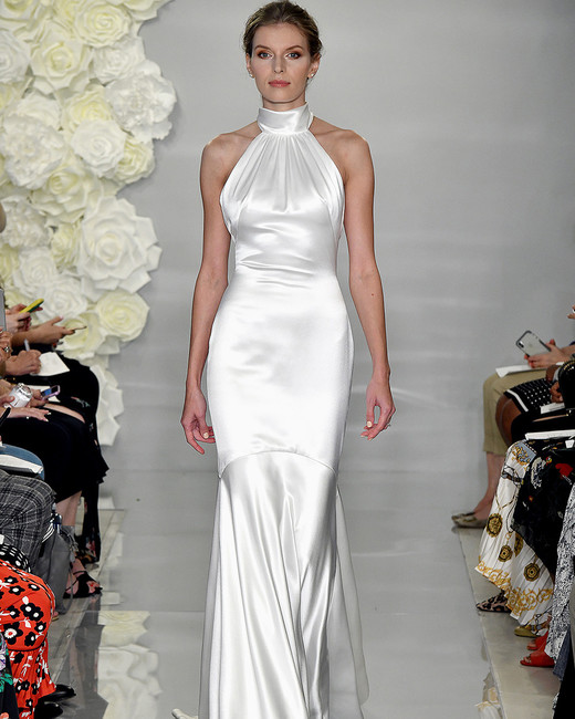 theia fall 2019 mermaid halter sleeveless satin