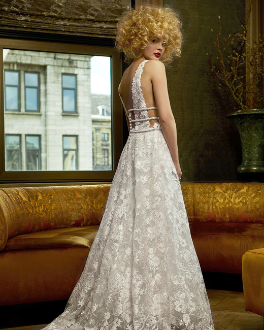 olvi wedding dress spring 2019 lace low-back a-line