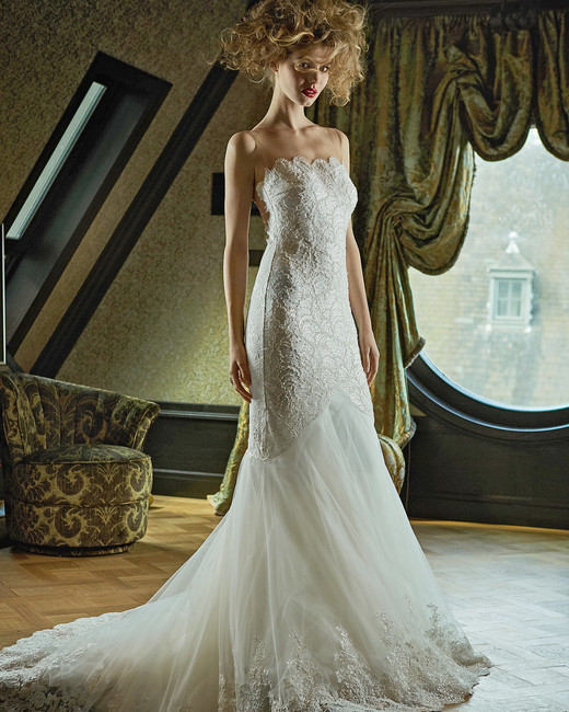 olvi wedding dress spring 2019 trumpet scalloped bustline