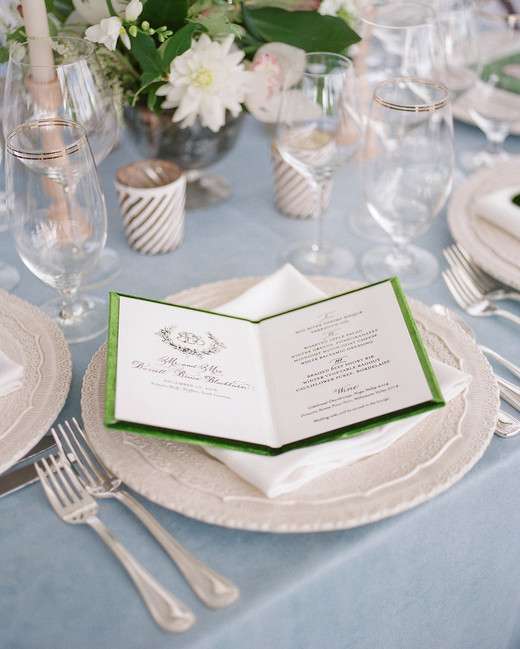 shelby barrett wedding menu