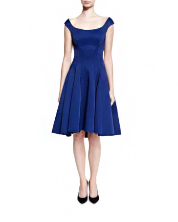 Zac Posen Ribbed Cocktail Dress