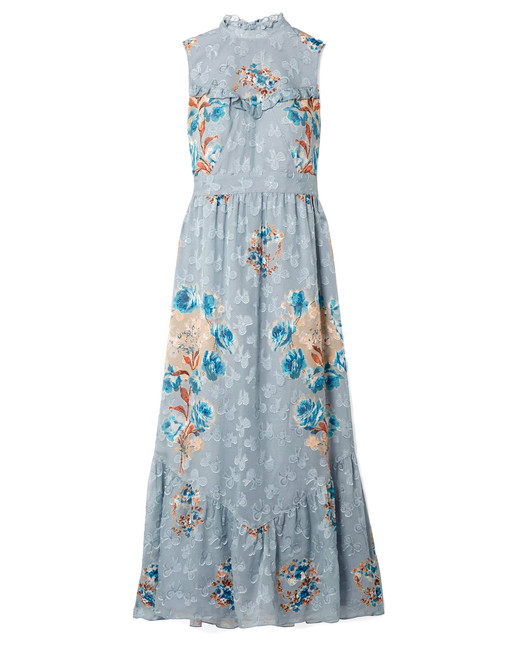 Anna Sui Silk-Blend Midi Dress