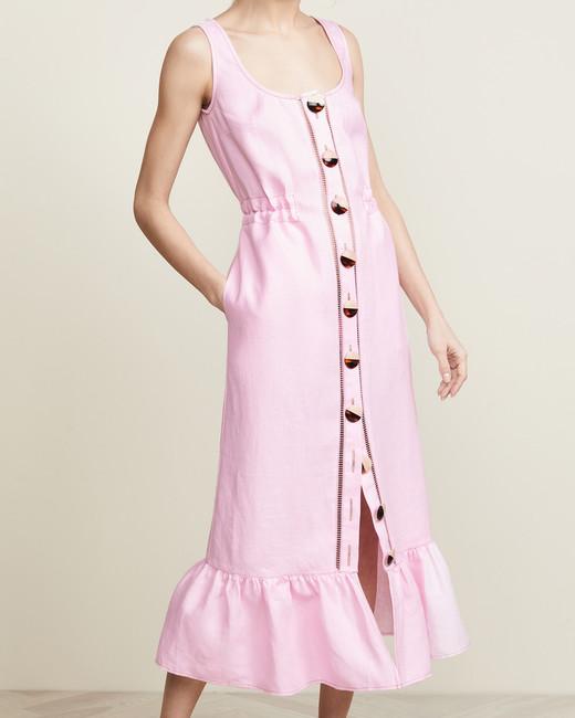 Nicholas Button-Front Garden Dress