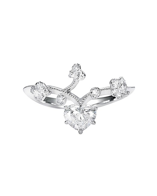Kataoka Heart Diamond Vine Ring
