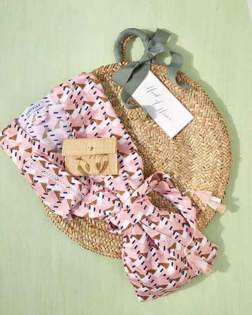 wicker basket silk robe
