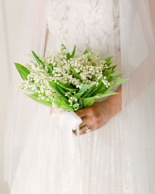 bride lily of the valley bouquet
