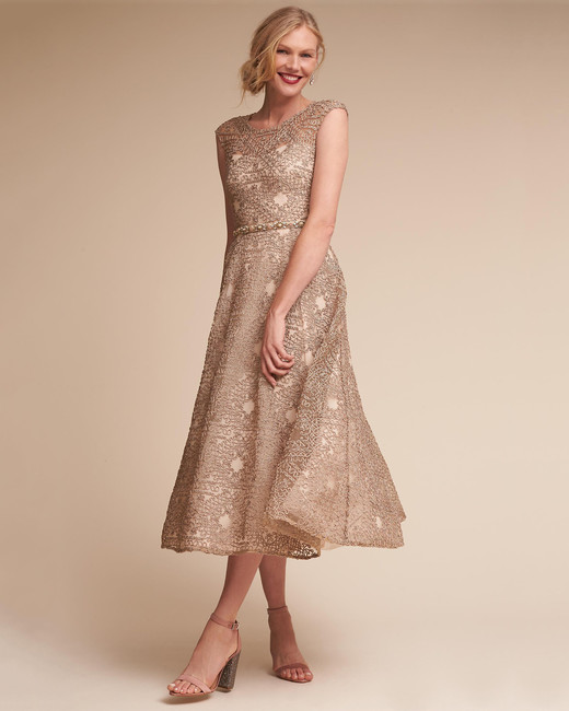 gold mob dress