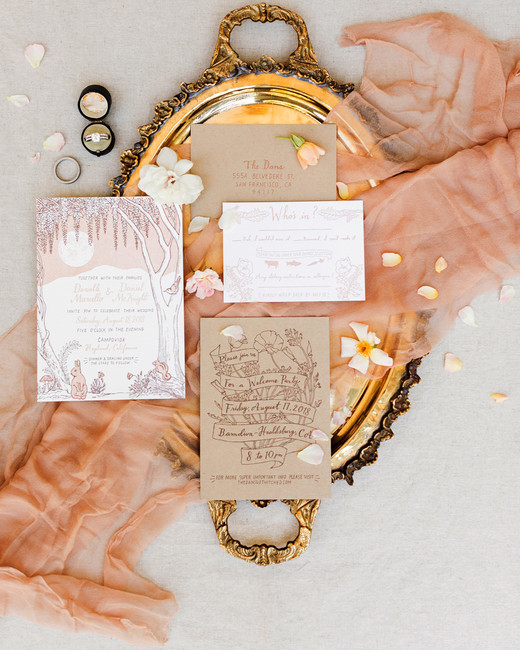 nature and animal inspired invitation suite