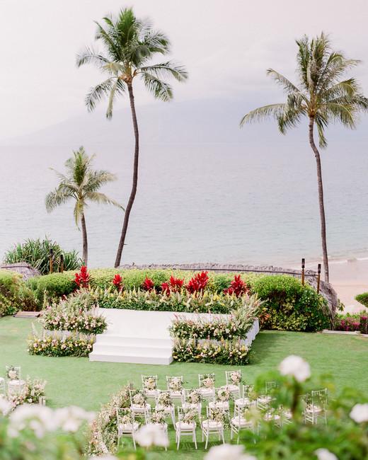 Maui Four Seasons wedding venue outdoors