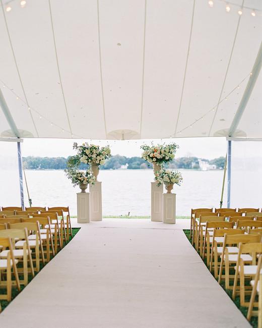 lauren alex wedding ceremony location tent