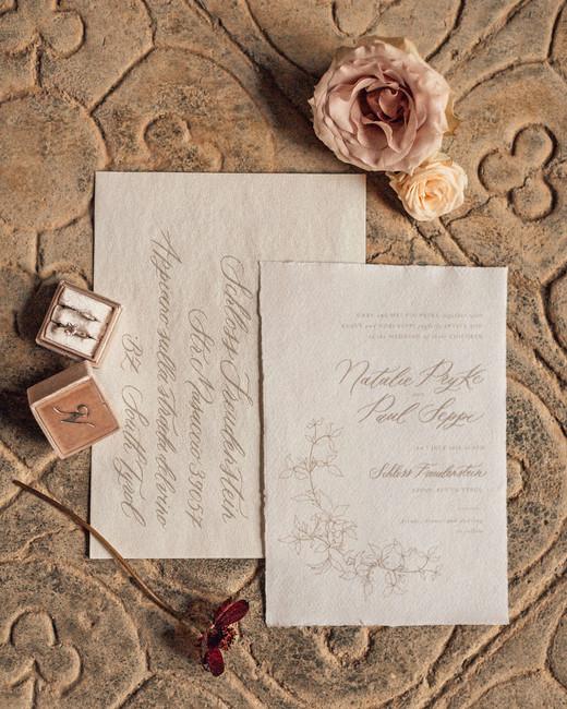 natalie paul wedding invites