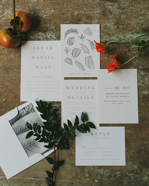 sarah daniel wedding invitations
