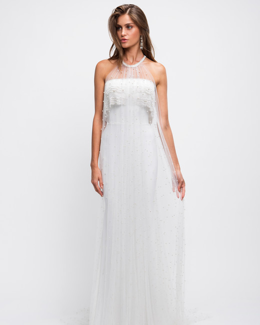 lihi hod wedding dress halter illusion beaded overlay sheath