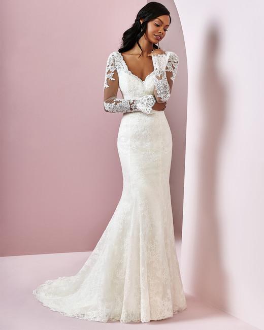 Rebecca Ingram wedding dress spring 2019 mermaid long sleeve lace