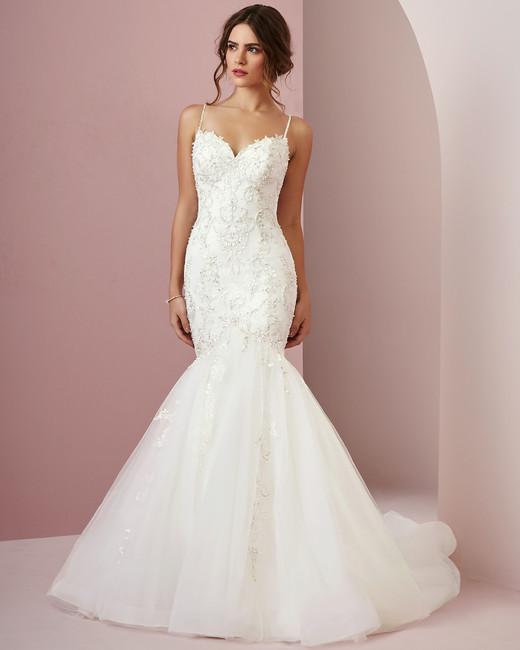 Rebecca Ingram wedding dress spring 2019 mermaid sweetheart neckline tulle