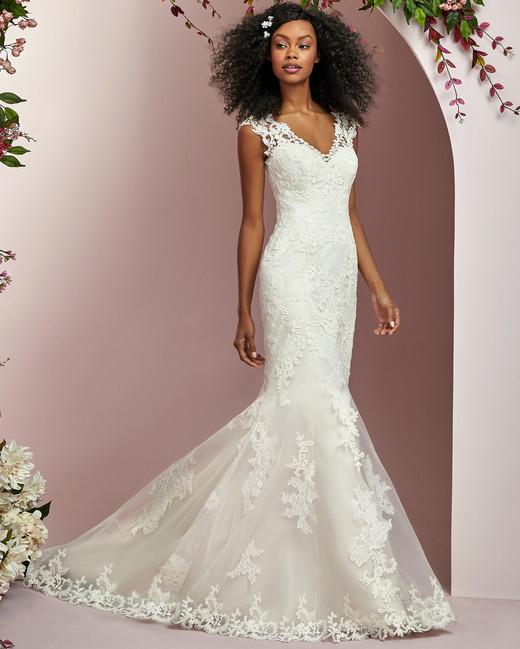 Rebecca Ingram wedding dress spring 2019 mermaid short sleeve lace