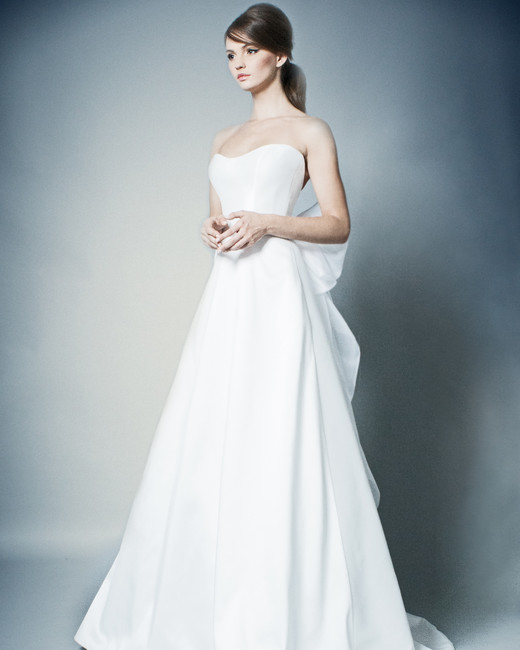 romona wedding dress spring 2019 strapless a-line with bow