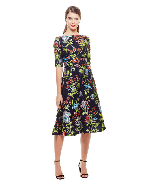 Lela Rose Floral Dress