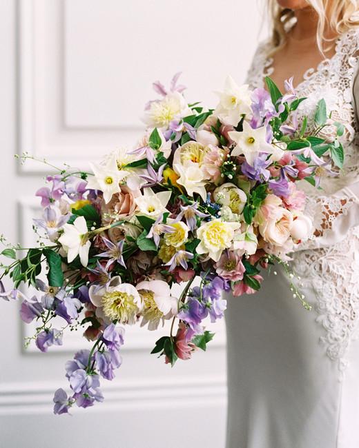 stephanie joe wedding bride with floral bouquet