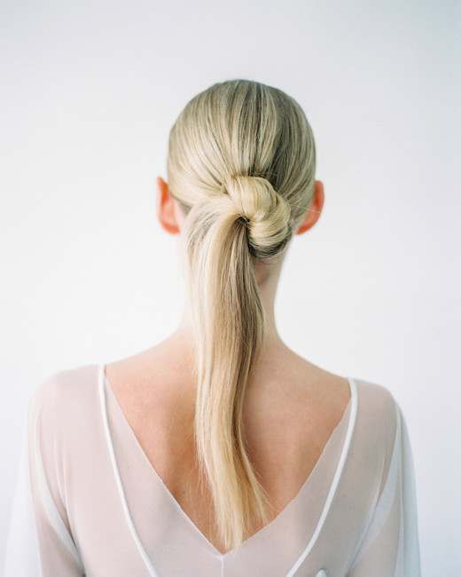 bridal ponytail half bun pony