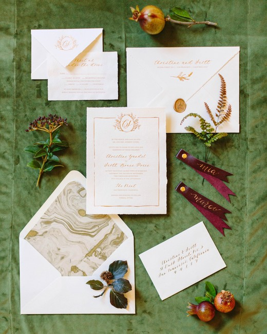 fall invites gilded suite