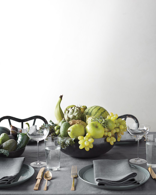 Green Fruit Bowl Centerpiece