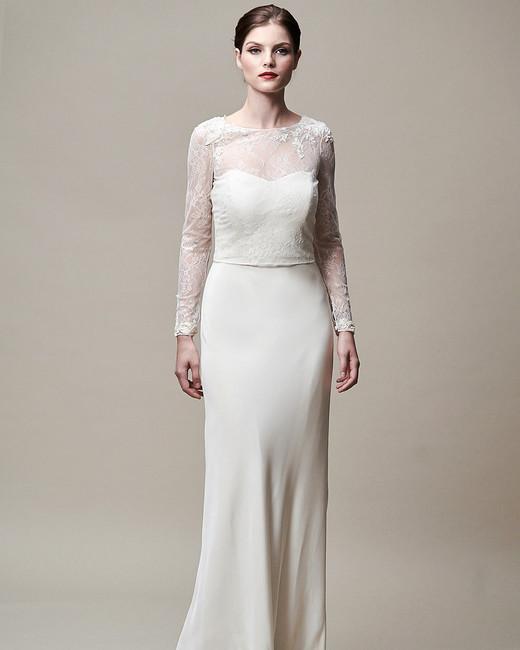 jenny yoo dress fall 2018 long sleeves illusion