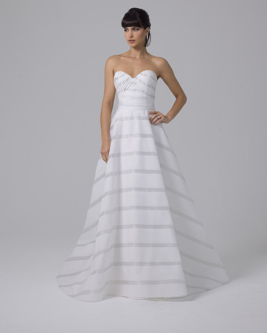 Liancarlo wedding dress with horizontal stripes fall 2019