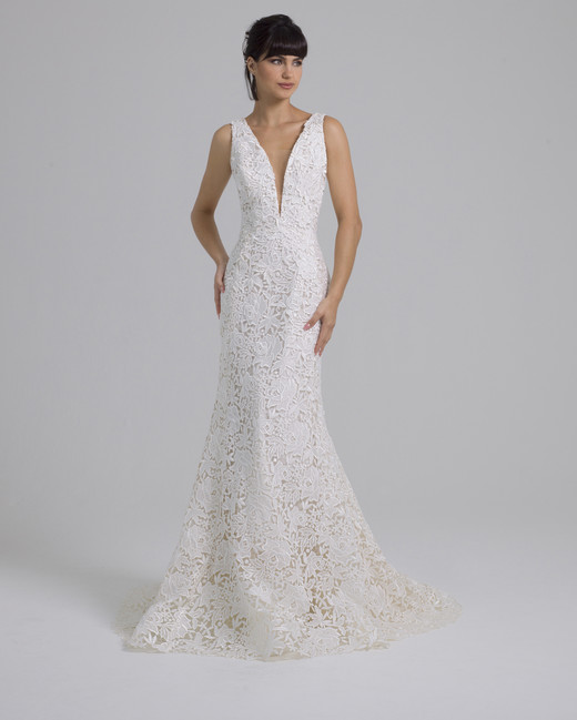 Liancarlo lace v-neck wedding dress fall 2019