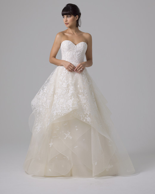 Liancarlo layered ball gown wedding dress fall 2019