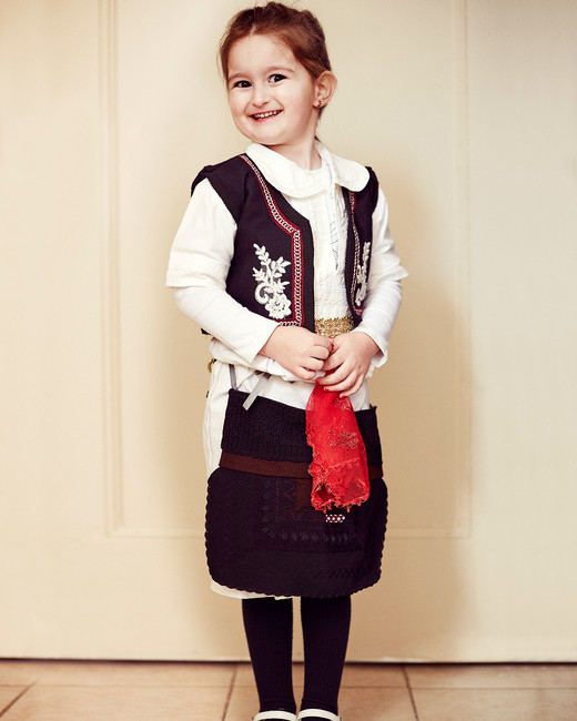 shqipe zenel wedding girl in albanian traditional attire