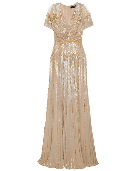 Jenny Packham Embellished Tulle Gown