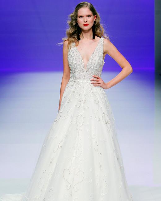 sottero midgley dress spring 2019 a-line v neck sleeveless beading