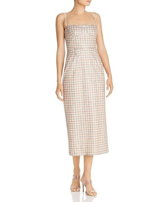 Sequined Check-Print Midi Sheath Dress