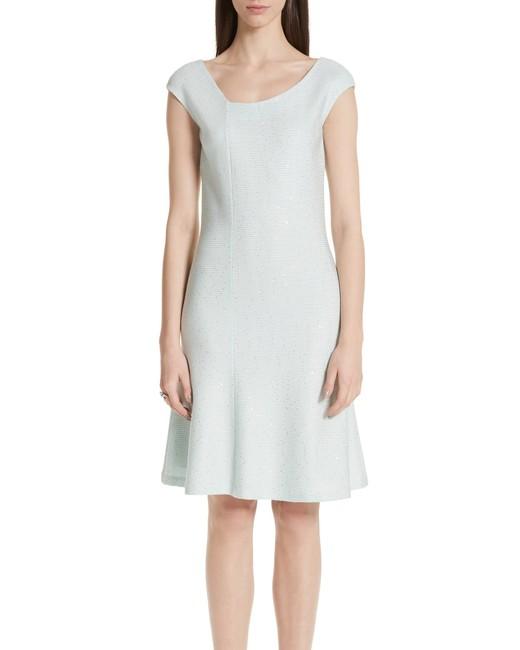 Sequin Knit Asymmetrical knee length Dress