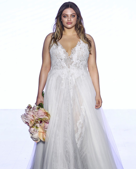 watters v-neck tulle wedding dress spring 2020