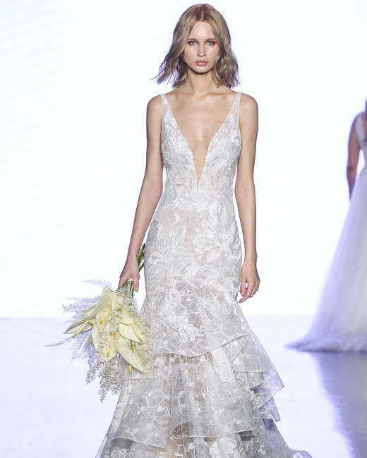 watters v-neck trumpet wedding dress spring 2020