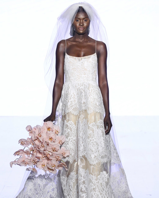 watters spaghetti strap lace wedding dress spring 2020