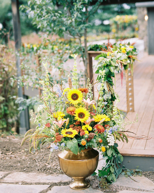 yellow wedding ideas du soleil