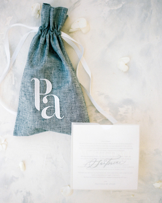 angie prayogo greece wedding favor bag