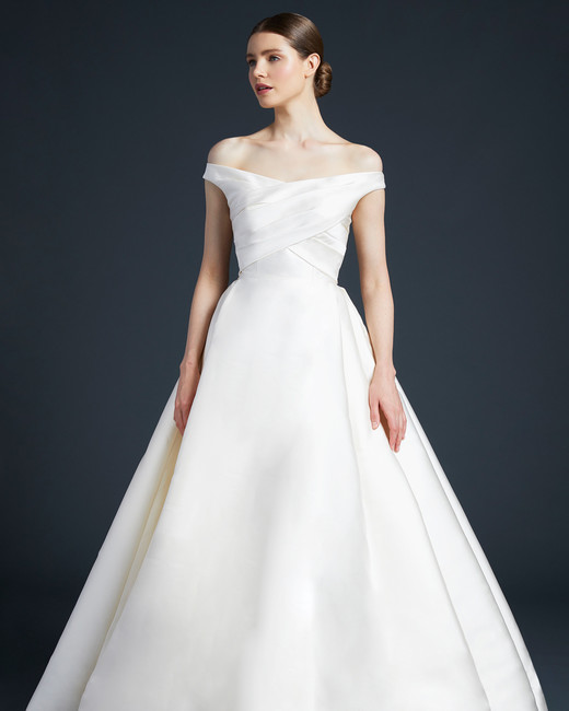 anne barge off the shoulder wedding dress fall 2019